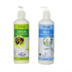 Toko 2 Pcs Thai Hand Body Lotion Zaitun Goat Milk 250 Ml Lengkap