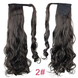Review Terbaik 2016 Fashion Long Magic Wavy Clip In Hair Extension False Hair Ponytails Hairpiece Intl