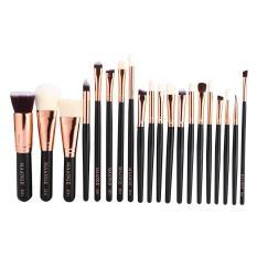 20 Pcs Kuas Kosmetik Set Foundation Perangkat Bibir Bibir (hitam)-Intl
