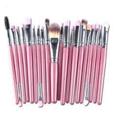Harga 20 Pcs Make Up Brushes Kosmetik Plastik Handle Sikat Makeup Dasar Set Intl Asli