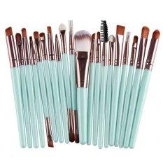 20 Pcs Kuas Kosmetik Make Up Profesional Pegangan Plastik Alis Dasar Perona Bibir Set Kuas Rias