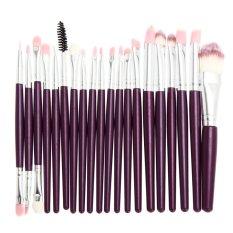 Harga 20 Pcs Makeup Foundation Brushes Ungu Perak Intl Terbaik