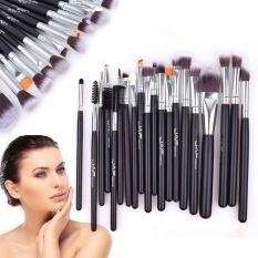 20 Pcs Nylon Hair Makeup Brushes Foundation Kosmetik Set Kecantikan untuk Pemula-Internasional