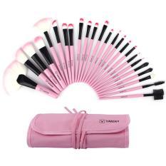 Daftar Harga 24 Buah Vander Profesional Sce Berwarna Merah Muda Soft Case Tas Kantong Superior Set Kuas Kosmetik Makeup Kit Internasional Oem