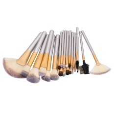 Diskon 24Pcs Professional Makeup Brush Champagne Gold Make Up Tool Set Foundation Brush Intl Branded