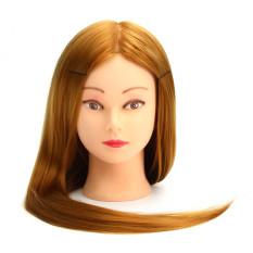 66.04 Cm 30% Rambut Manusia Asli Pelatihan Praktek Lama Pemangkasan Manekin Kepala Salon Tata Rias Penataan Rambut With Catok & #45; Internasional
