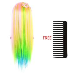 Beli 26 Colorful Kosmetik Hair Style Training Berlatih Mengepang Head Doll 5 Pink Multicolor Intl Yang Bagus