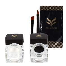 Beli 2 Botol Set Long Last Makeup Dengan 2 Pcs Brushes Hitam Putih Intl Kredit
