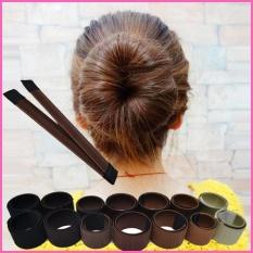 Beli 2 Pcs Diy Rambut Wig Aksesoris Rambut Bun Updo Lipat Bungkus Alat Styling Snap Gaya Coklat Kemerahan 33 Intl