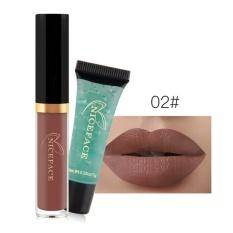 2 Pcs Bibir Gloss Liquid Lipstik Anti-Air Panjang Abadi Melembabkan Lipgloss Kosmetik Bibir Warna