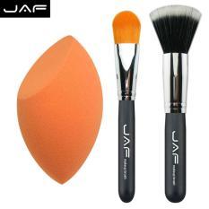 Toko 3 In 1 Set Make Up Kit Include Sponge Egg Plus Stippling Brush And Foundation Brush Pf04Set Intl Online Terpercaya
