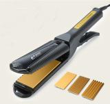 Spesifikasi 3 In1 Perubahan Boardelectric Perawatan Rambut Curler Roller Waver Straightener Curling Iron Lapisan Keramik Dengan Sisir Gb Plugs Hitam Intl Baru