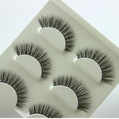 3 Pair Natural LOOK False Eyelashes Bulu Mata Ekstensi Makeup-Intl