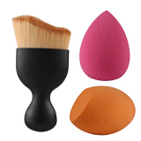 Jual 3 Buah S Kosmetik Makeup Kuas Blush On Berbentuk Tetesan Air Kepala Miring Bedak Alat Hitam Di Bawah Harga