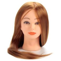 30% Rambut Manusia Asli 60.96 Cm Kepala Manekin For Pelatihan Penata Rambut Kepala With Rambut Emas Meja Rias untuk Dijual