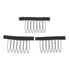 30 Pcs Kawat Warna Hitam Teguran Combs Klip Plastik Nyaman untuk Rambut Penuh Renda Teguran Tutup Aksesori Gaya Tools- internasional