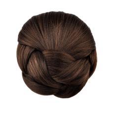 360DSC Jeran Kepang Rambut Sanggul Rambut Sintetis Jepit Rambut Di Sanggul Rambut Palsu-coklat-Internasional