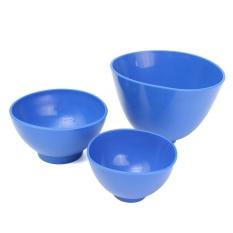 3 Pcs Gigi Nonstick Kesan Alginate Fleksibel Karet Pencampuran Medis Bowl-Intl