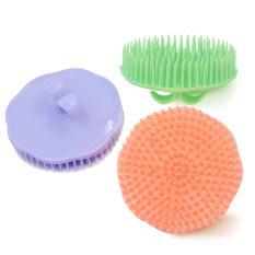 3 Pcs Portable Sampo Kulit Kepala Pemijatan Brushes Bunga Edge Shower Massager Sikat Rambut Dengan Cute Bud Bentuk Handle Untuk Salon Profesional Pribadi Shop Acak Warna
