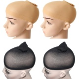 4 Pcs High Elasticity Soft Breathable Mesh Wig Caps 2 Black 2 Skin Color Intl Di Tiongkok