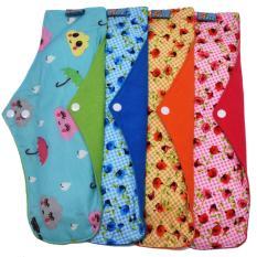 Katalog Faaza Store Menspad 4Pcs Jumbo 36Cm Menstrualpad Pembalut Kain Cuci Ulang Wanita Motif Mekar Terbaru
