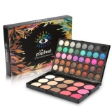 Beli 40 Warna Eyeshadow 15 Warna Blusher Concealer Palet Wajah Mata Makeup Kit Cicilan