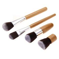 4Pcs Authentic MFY Bamboo Handle Pro Face Blush Powder Makeup BrushSet