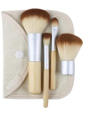 Harga 4Pcs Bamboo F*c**l Makeup Brushes Kit With Bag Intl Not Specified Ori