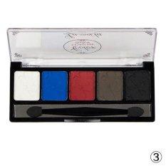 5 Warna Plate Makeup Eye Shadow Blush Warna Piring-Internasional