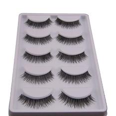 5 Pair Natural LOOK False Eyelashes Bulu Mata Ekstensi Makeup-Intl