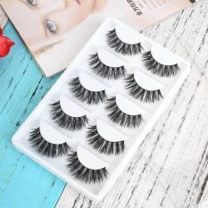Spesifikasi 5 Pairs Fake Eye Lashes 3D Mink Handmade Long Thick False Eyelashes Makeup Intl Oem Terbaru