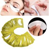 Jual Beli 50 Pasang Set Idep Ekstensi Hydrogel Under Mata Gel Lint Free Pad Patch Sticker Tape Emas Tiongkok