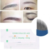 Promo 50 Pcs 3D Alis Tato Manual Microblading Permanen Tato Steril Jarum 18 Pin Intl Murah
