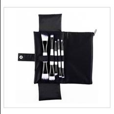 5 Pcs Portable Wajah Lipstik Eyeshadow Kosmetik Kecantikan Makeup Brushes Kit With Bag