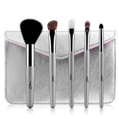 5 Pcs Portable Pensil Alis Mata Kosmetik Makeup Brush Set Kit + Pouch Bag-Intl