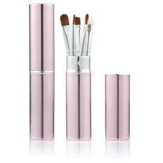5 Pcs Set Makeup Foundation Bubuk Kotak Silindris BrushProfessional Alat