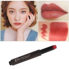 6 Warna Tekan Tombol Lipstik Makeup Bibir Tahan Lama-Intl
