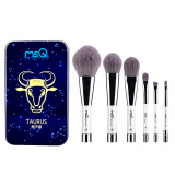 Harga 6 Buah Kosmetik Makeup Bambu Arang Serat Kuas Alas Bedak Blush On Perona Mata Alis Kuas Bibir Set Kit Dengan Kasus Besi Taurus Satu Set