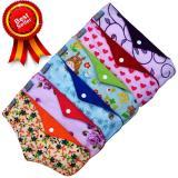 Toko Jual Faaza Store Menspad 6Pcs Night 31Cm Menstrualpad Pembalut Kain Cuci Ulang Wanita Motif Katun