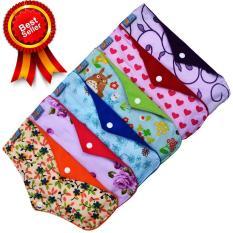Toko Faaza Store Menspad 6Pcs Night 31Cm Menstrualpad Pembalut Kain Cuci Ulang Wanita Motif Katun Terdekat