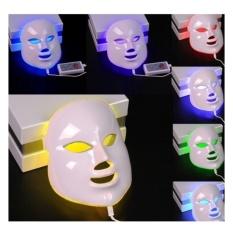 Review Toko 7 Warna Lampu Foton Pdt Electric Led Beauty F*c**l Wajah Topeng Kulit Peremajaan Wajah Anti Jerawat Kerut Penghapusan Putih Intl