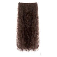 70 Cm L Panjang Gelombang Jagung Potong Rambut Palsu Ikal Haircut Yang Pirang And Berombak Merilis Klip Rambut Manusia Ekstensi Di Sopak Dalam Coklat