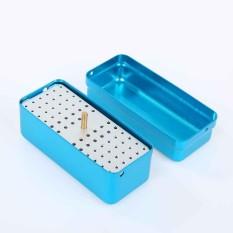 72 Lubang Dental Bur Burs Dudukan Blok Autoclave Disinfeksi Box-Intl