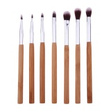 Spesifikasi 7 Pcs Bambu Handle Mata Makeup Brush Set Eye Shadow Eyeliner Makeup Tools Murah Berkualitas