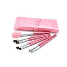 7 Pcs Profesional Rambut Kuda Kosmetik Foundation Makeup Brushes untuk Pemula Hz0012 (pink)-Intl