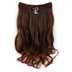Jual 7Revolution Hair Clip Rambut Palsu Curly Kriting Light Brown Branded Original