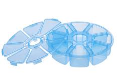 8 Grids Plastic Desktop Kotak Penyimpanan (Biru)