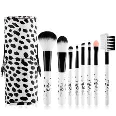 8 Pcs Makeup Kosmetik Sikat Serat Buatan Blush Brow Powder Foundation Eye Shadow Alis Bibir Alis Mata Kit dengan PU Case