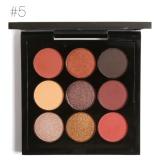 Spesifikasi 9 Warna Eye Shadow Palet Nada Bumi Shimmer Matte Pigment Glitter Eyeshadow Metallic Harian Artist Makeup Set 5 Baru