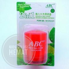 ABC Menthol Cone 2in1 Ukuran Besar 20Gram - Warna Random - Obat Gosok dan Inhaler